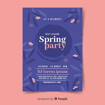 Plakat z imprezą z ciemnej wiosny