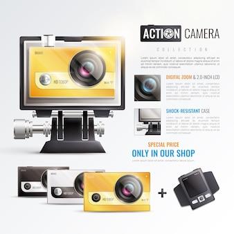 Plakat z kamerą akcji