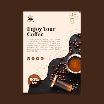 Plakat z kawą najwyższej jakości