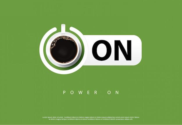 Plakat z kawą reklama flayers illustration