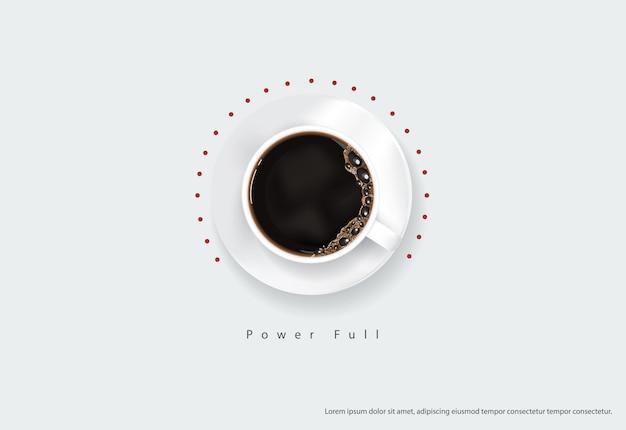 Plakat z kawą reklama ulotki ilustracja