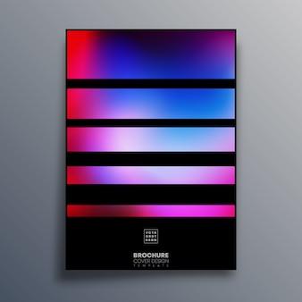 Plakat z kolorowymi liniami gradientu na ulotkę, okładka broszury, typografia vintage