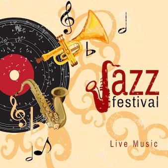 Plakat z koncertem jazzowym