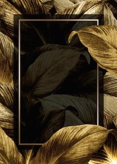 Plakat z liści