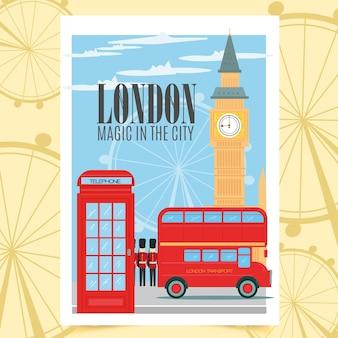 Plakat z londynu