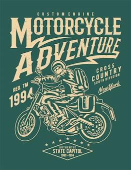 Plakat z motocyklową przygodą