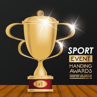 Plakat z nagrodami za wydarzenia sportowe
