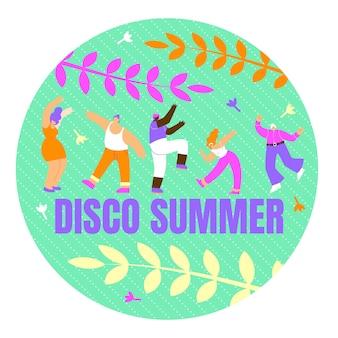 Plakat z napisem disco summer