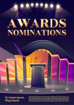 Plakat z nominacjami do nagród