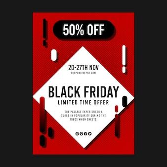 Plakat z ofertą ograniczoną w czarny piątek
