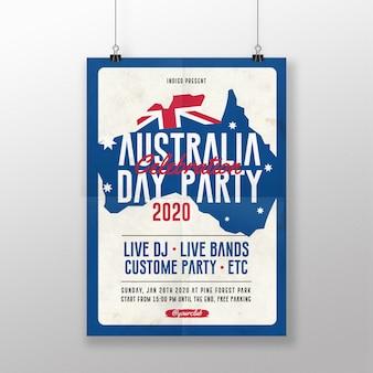 Plakat z okazji dnia australii