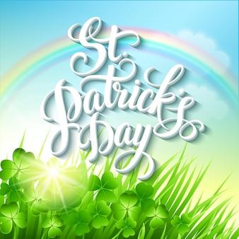 Plakat z okazji dnia świętego patryka. ilustracja