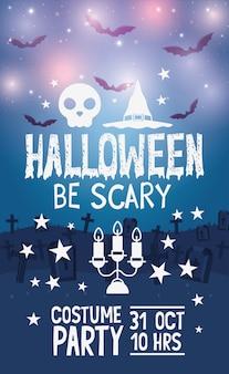 Plakat z okazji halloween