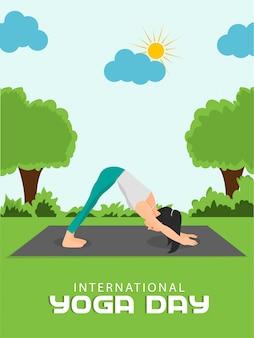 Plakat z okazji międzynarodowego dnia jogi