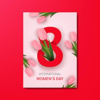 Plakat z okazji międzynarodowego dnia kobiet