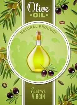 Plakat z oliwą z oliwek z pierwszego tłoczenia