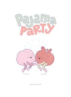 Plakat z piżamą