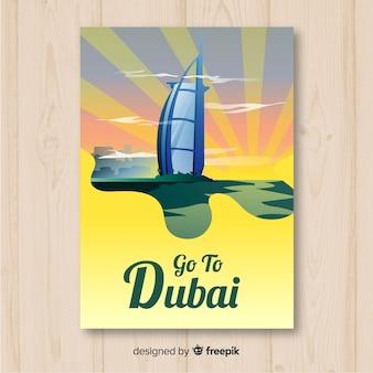 Plakat z podróży dubaju
