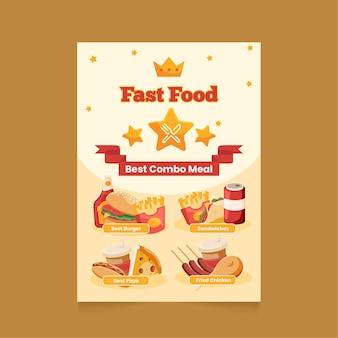 Plakat z posiłkami combo