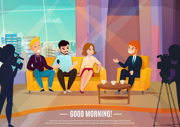 Plakat z talk show