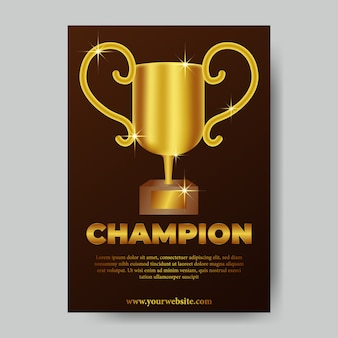 Plakat z trofeum