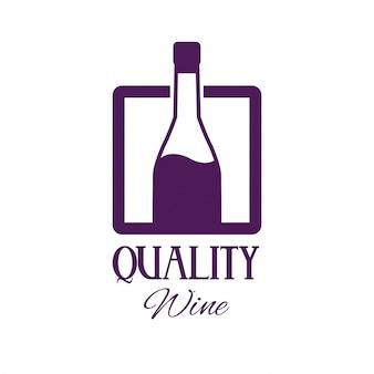 Plakat z wizerunkiem wysokiej jakości wina butelki