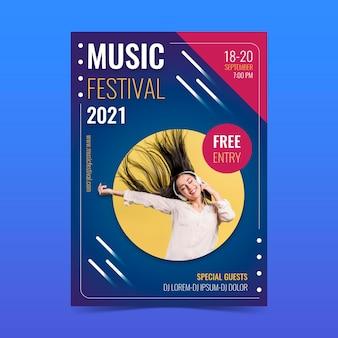 Plakat z wydarzeniem muzycznym 2021
