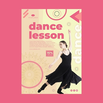 Plakat zajęć tanecznych ze zdjęciem