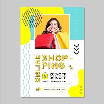 Plakat zakupów online