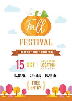 Plakat zaproszenia na festiwal jesień