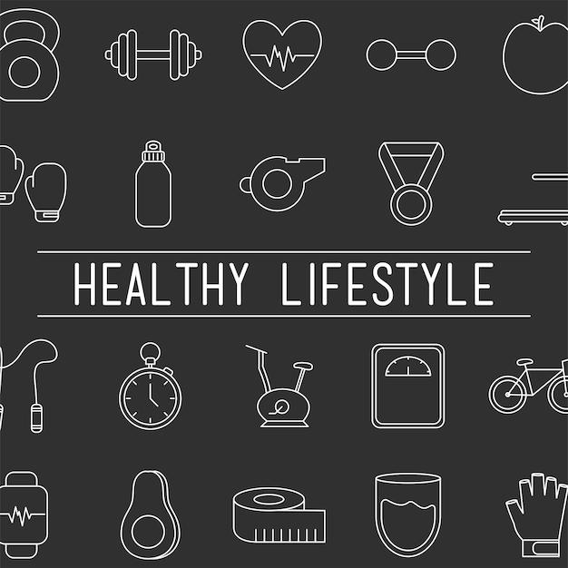 Plakat zdrowego stylu życia