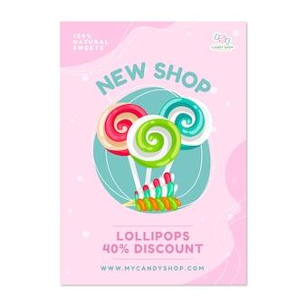 Plakat ze słodyczami