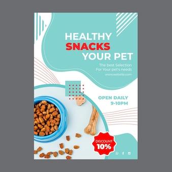 Plakat ze zdjęciem karmy dla zwierząt