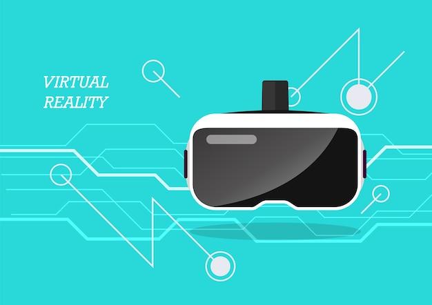 Plakat zestawu słuchawkowego rzeczywistości wirtualnej