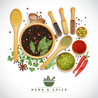 Plakat zioło i przyprawy