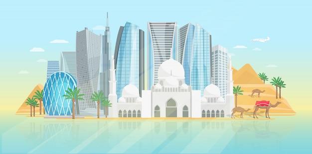Plakat zjednoczone emiraty arabskie
