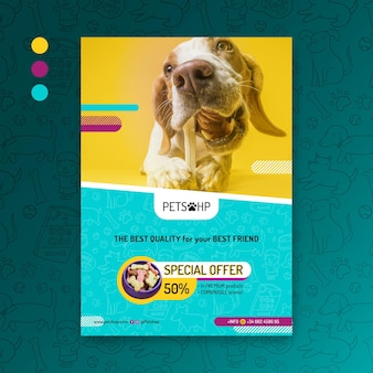 Plakat żywności dla zwierząt
