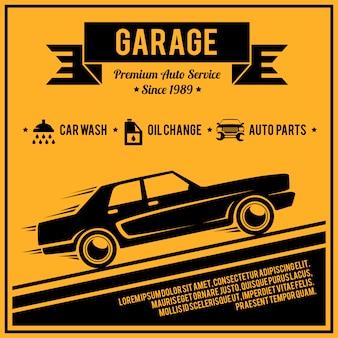 Plakatowa usługa auto
