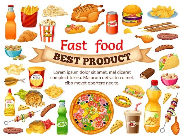 Plakatowe fast foody.