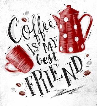 Plakatowy przyjaciel kawy