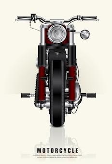 Plakatowy siekacza motocykl odizolowywał wektorową ilustrację