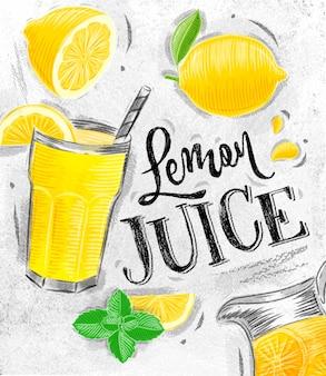 Plakatowy sok z cytryny