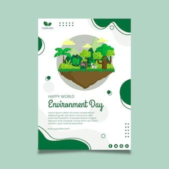 Plakatowy szablon dnia środowiska