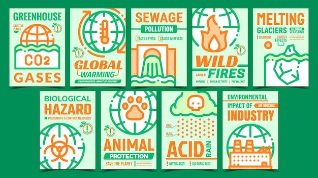 Plakaty promocyjne problemów środowiskowych
