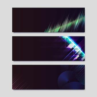 Plakaty z efektem światła neonowego