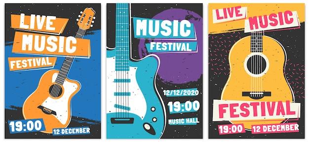 Plakaty z festiwali muzycznych