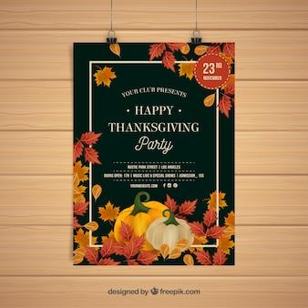 Plakaty z okazji święto dziękczynienia w stylu vintage