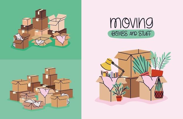 Plakaty z ruchomymi pudełkami