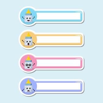 Plakietka z imieniem smoczka dla niemowląt słodkie logo postaci