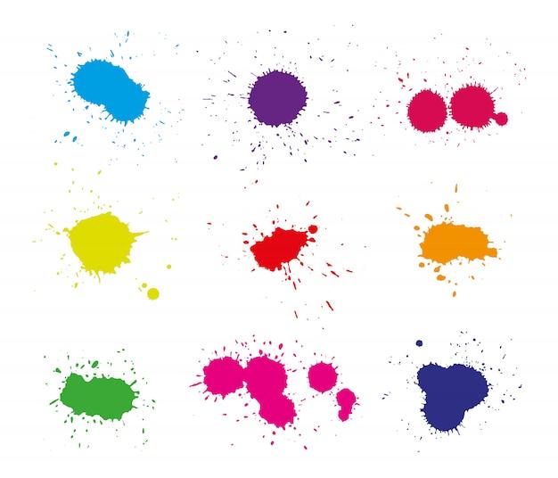 Plamy koloru farby